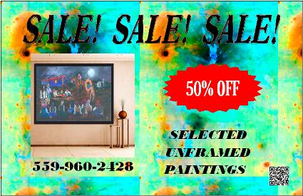 retired paintings sale 50% off