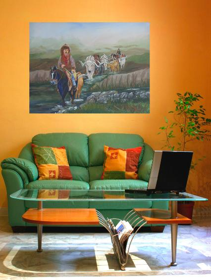 wall art,decorating with original art