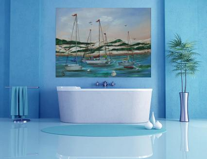 seascapes,wall art,decorating with original art