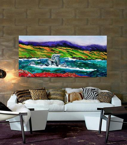 seascape,decorating with real art,wall art